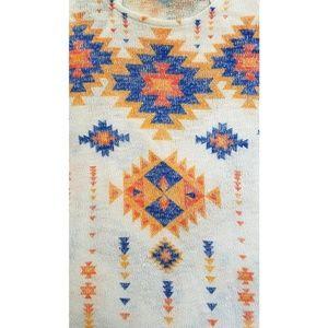 Blushed Tops - Aztec Tank Top Racerback Knit Blushed Orange Blue